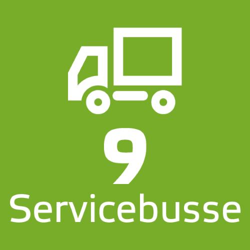 9 Servicebusse