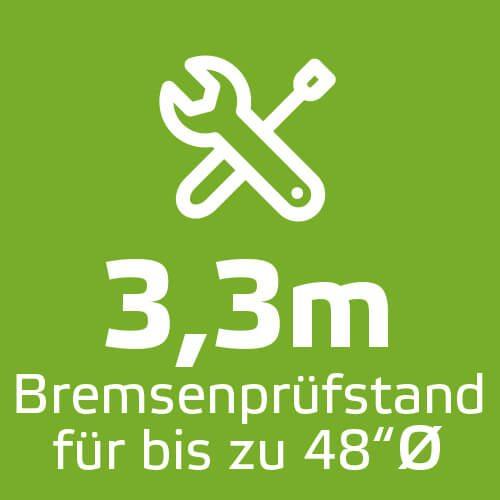 3,3m Bremsenprüfstand