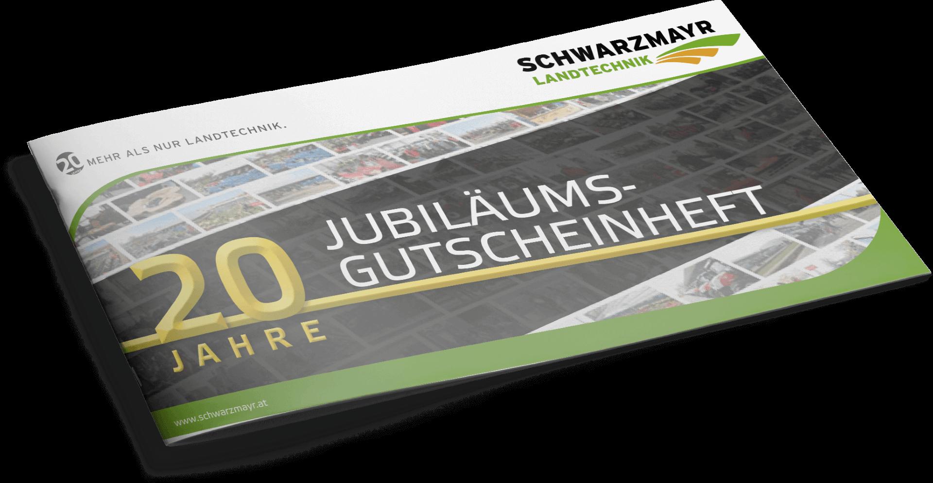 Schwarzmayr Jubiläums-Gutscheinheft