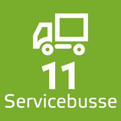 11 Servicebusse