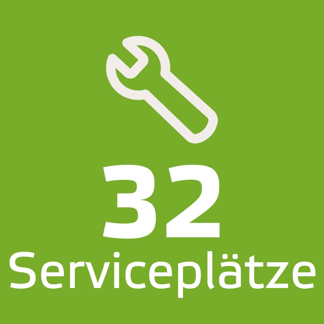 32 Serviceplätze