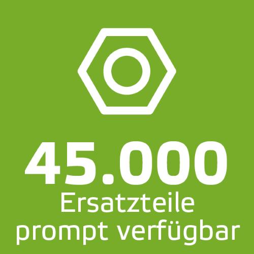 45.000 Ersatzteile