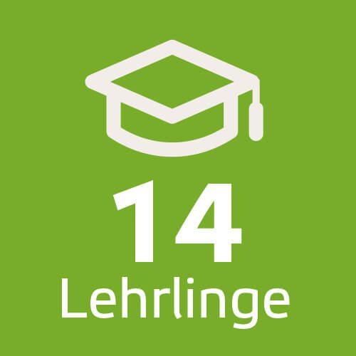 14 Lehrlinge