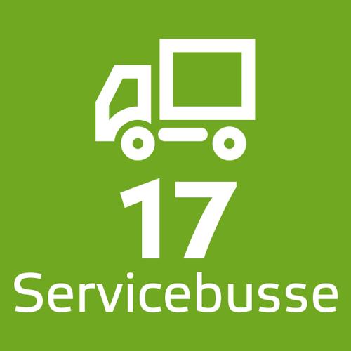 17 Servicebusse