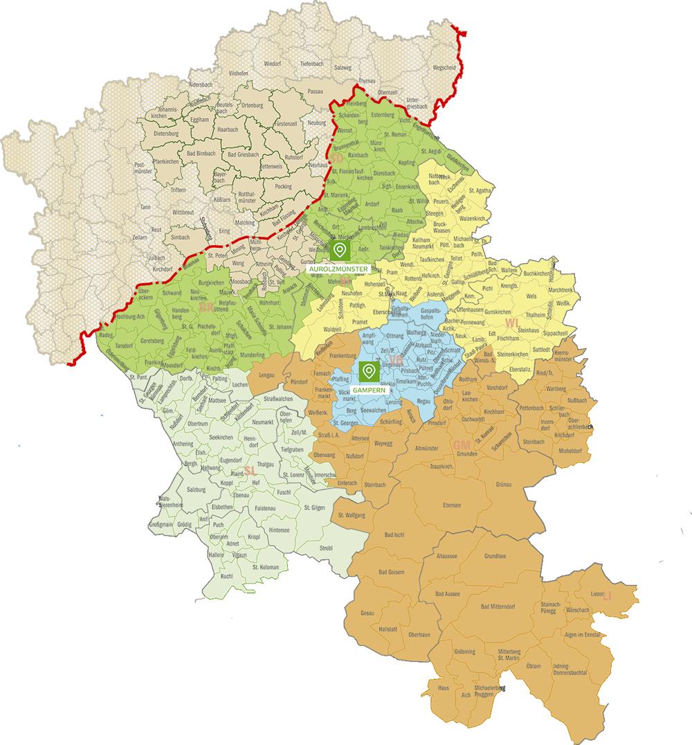Landkarte Aussendienst