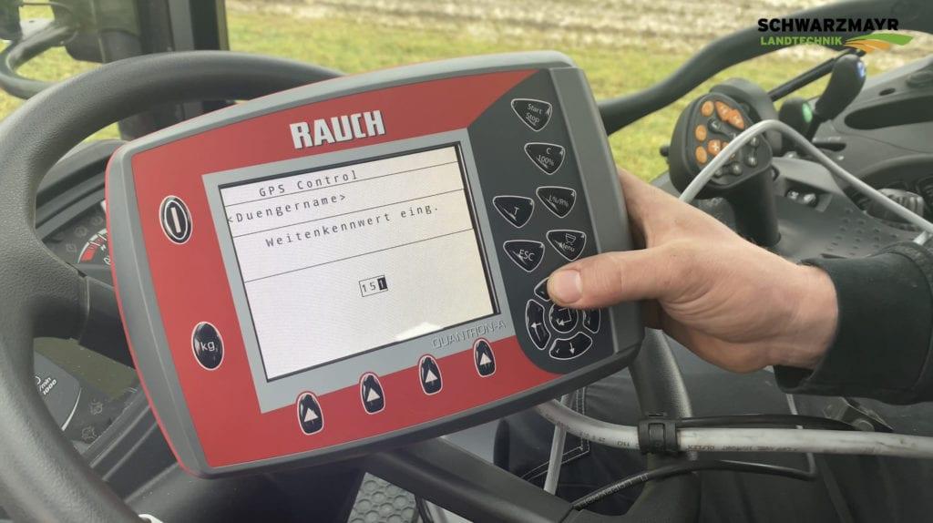 Düngerstreuer Rauch Axis – GPS Control Einstellungen