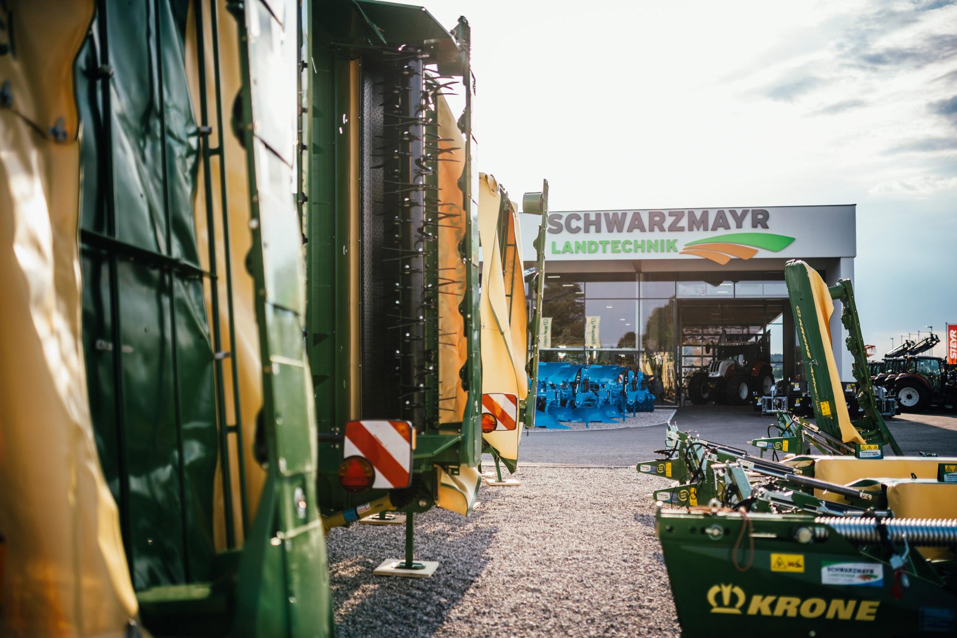 Krone Maschinen Ausstellungsgelände Gampern