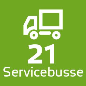 21 Servicebusse